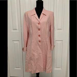 Escada pink wool tweed suit